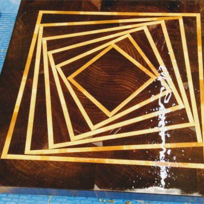 Log Cutting Board