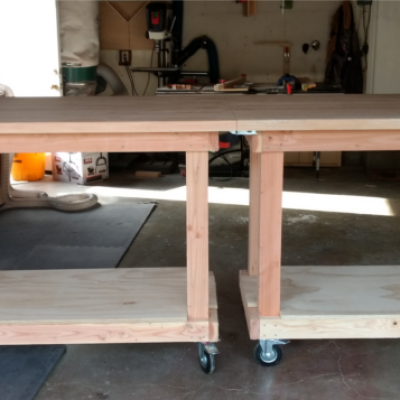 Work bench striaght on connected
