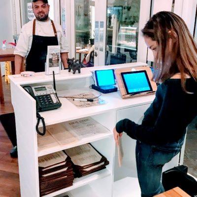 Restaurant reception desk